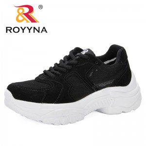ROYYNA 2019 Hot Sales Summer New Lace Breathable Sneakers Women Shoes Comfortable Casual Feminimo Platform Wedge Shoes Trendy