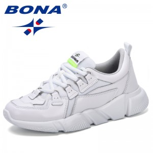 BONA 2019 Fashion Women's Platform Sneakers Female Casual Shoes Breathable Luxury Leisure Women Shoes Tenis Feminino Comfortable