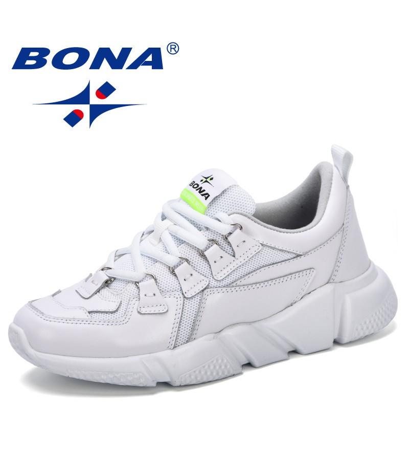 BONA 2019 Fashion Women's Platform Sneakers Female Casual Shoes Breathable Luxury Leisure Women Shoes Tenis Feminino Comfortable