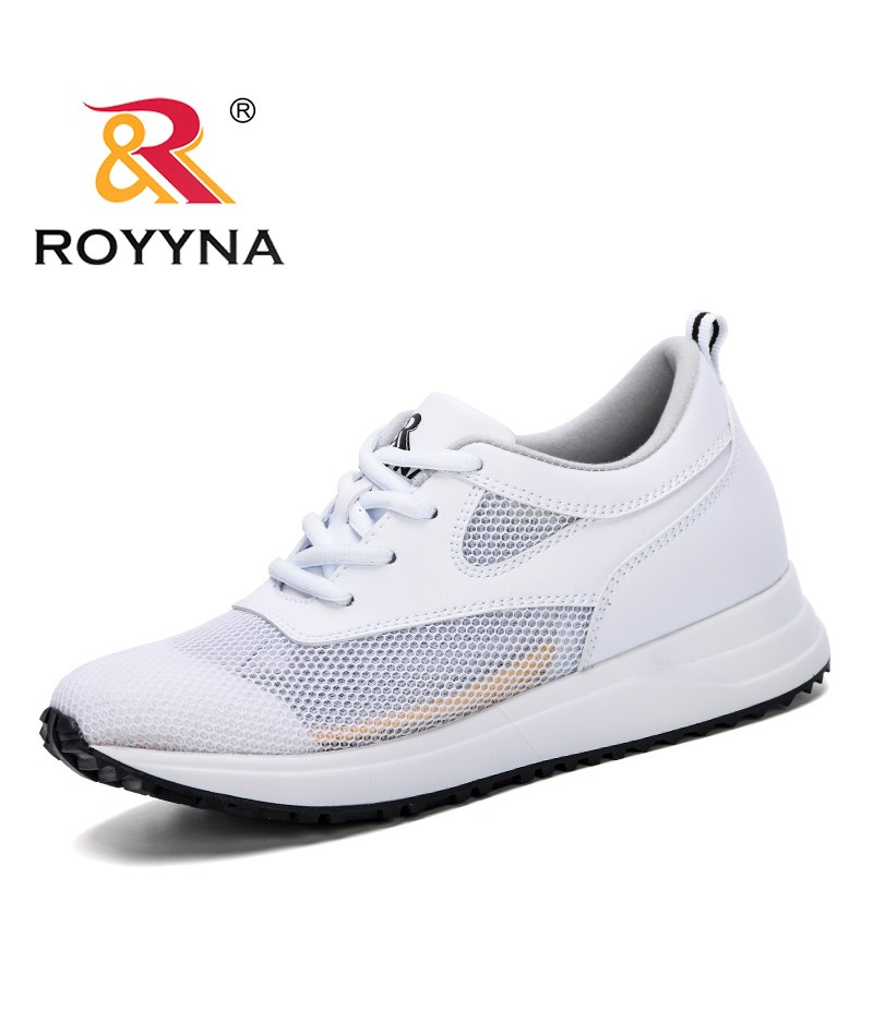 ROYYNA 2019 New Style Sneakers Feminimo Summer Fashion Breathable Air Mesh Lace Up Casual Shoes Ladies Flat Comfort Shoes Women