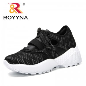 ROYYNA 2019 Breathable Mesh Women Casual Shoes Vulcanize Female Fashion Sneakers Lace Up High Leisure Footwears Comfortable Shoe