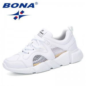 BONA 2019 New Classics Style Women Sneakers Women Fashion Brand Retro Platform Shoes Ladies Footwear Breathable Mesh Casual Shoe