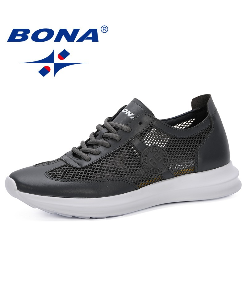 BONA 2019 New Popular Style Mesh Men Shoes Casual Breathable Men Sneakers Mens Fashion Shoe For Male Footwear Comfortable Trendy