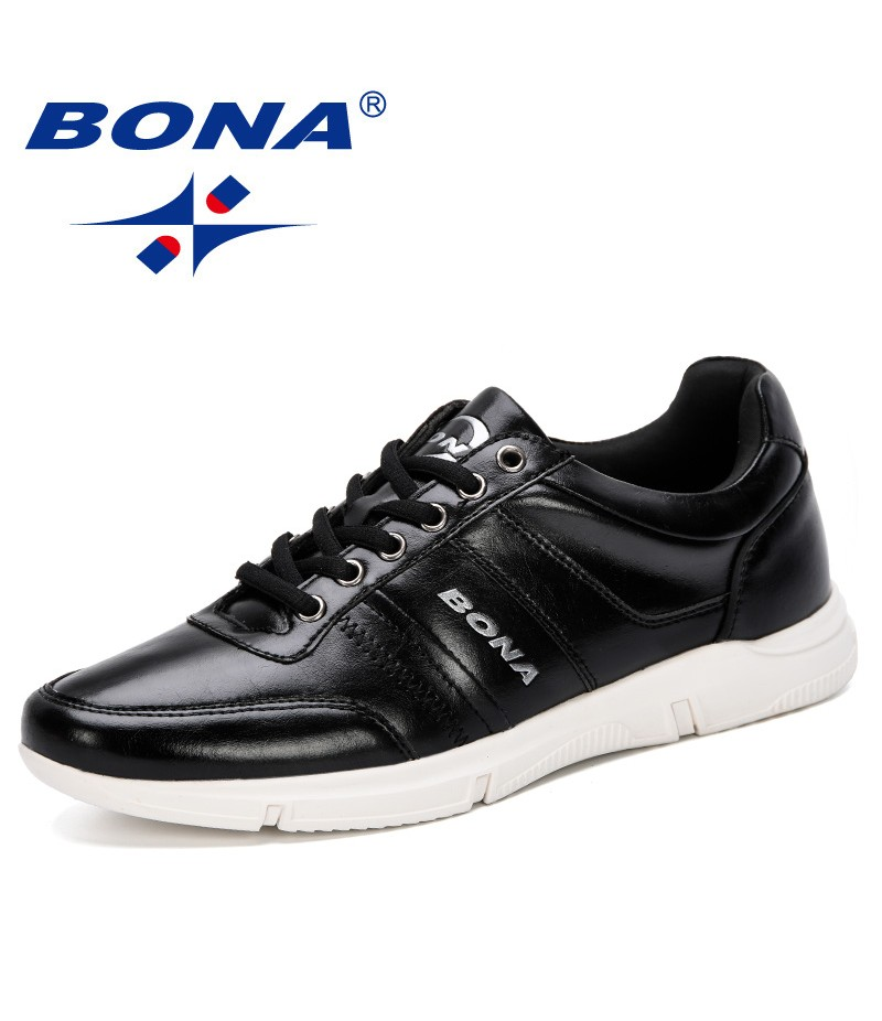 BONA 2019 New Fashion Style Men Casual Shoes Men Sneakers Lace-Up Male Trainers Breathable Shoes Trendy Tenis Masculino Footwear
