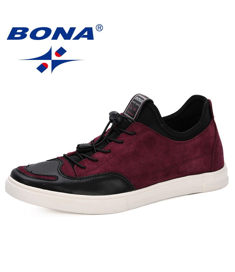 BONA 2019 New Arrival Spring Autumn Comfortable Casual Shoes Men Suede Leather Men's Lace Up Fashion Style Flats Shoes Trendy