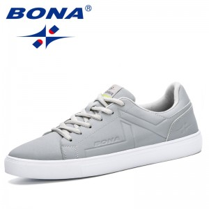 BONA 2019 New Popular Style Men Skateborading Shoes Synthetic Leather Lace Up Men Walking Shoes Outdoor Man Sport Shoes Trendy