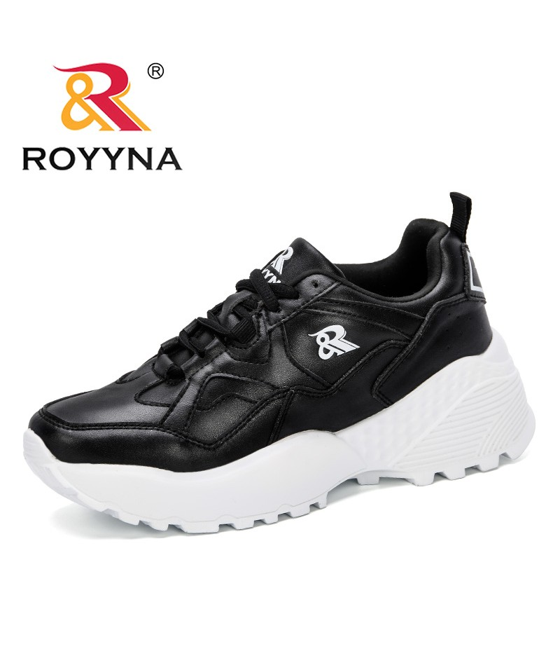 ROYYNA 2019 New Style Platform Sneakers White Shoes Woman Causal Shoes Female Chunky Trainers Ncqueens Shoes Walking Frminimo