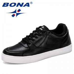 BONA 2019 New Designer Fashion Casual Shoes Women Lace Up Comfortable Breathable Sneakers Female Footwear Flat Casual Shoes Lady