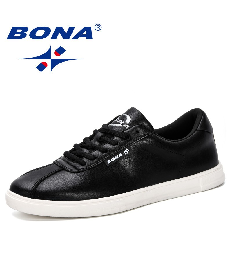 BONA 2019 New Style Men Sneakers Men Casual Shoes Fashion Platform Flats Basket Homme Comfortable Trainers Chaussures Hommes