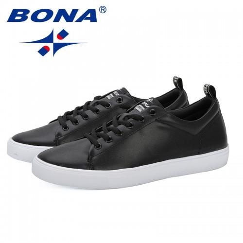 BONA 2019 Spring Summer Flat Shoes Men