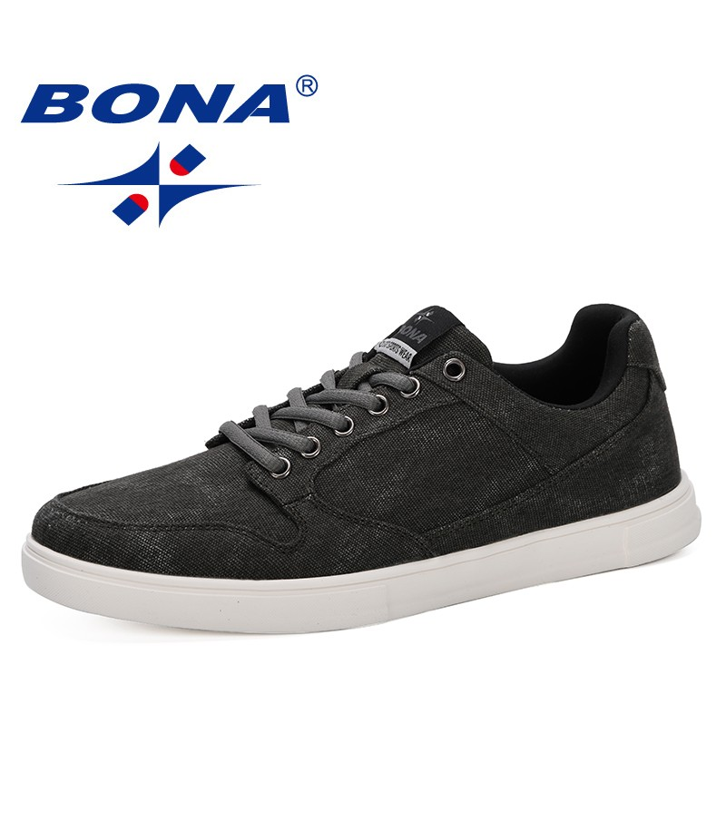 BONA 2019 New Arrival Men Flats Shoes Height Increasing Casual Shoes Men Sneakers Lace-Up Student Shoes Chaussure Homme Trendy