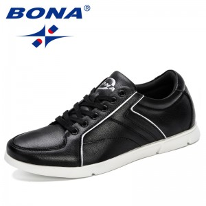 BONA 2019 New Designer Men Walking Shoes Autumn Comfort Outdoor Sports Shoes Male Sneakers Trendy Jogging Shoes Men Comfortable