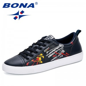 BONA 2019 Men's Skateboarding Shoes Breathable Outdoor Sport Basket Shoes Sneakers Shoes Men Jogging Walking Trainers Shoes Man