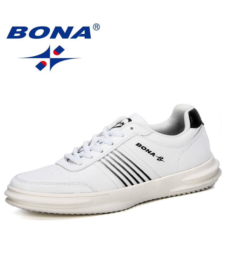 BONA 2019 New Style Men Sneakers High Quality Man Non Slip Comfortable Casual Shoes Breathable Outdoor Walking Shoes Man Trendy