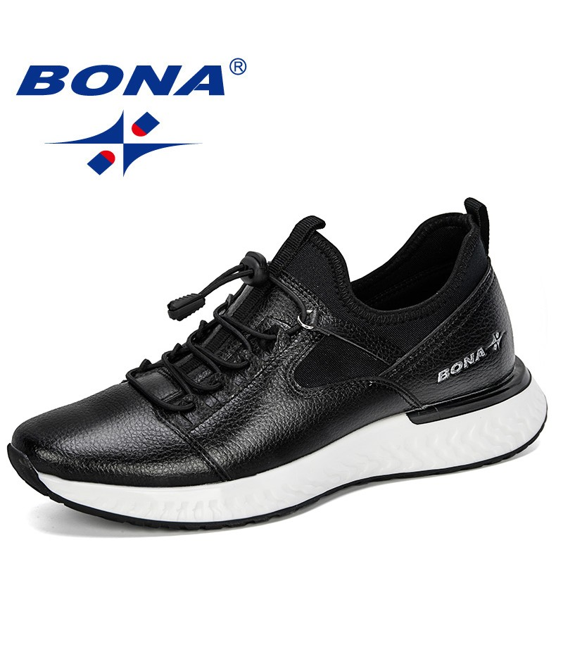 BONA 2019 New Popular Casual Shoes Men Outdoor Sneakers Shoes Man Comfortable Trendy Men Walking Footwear Tenis Feminino Zapatos
