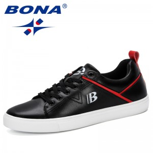 BONA 2019 New Designer Men Sneakers Outdoor Shoes Sport Platform Men Jogging Shoes Classics Skateboarding Shoes Man Comfortable