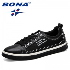 BONA 2019 New Classic Sneakers Men Skateboarding Shoes Outdoor Comfortable Solid Colors Unisex Lovers Lace-Up Sport Shoes men
