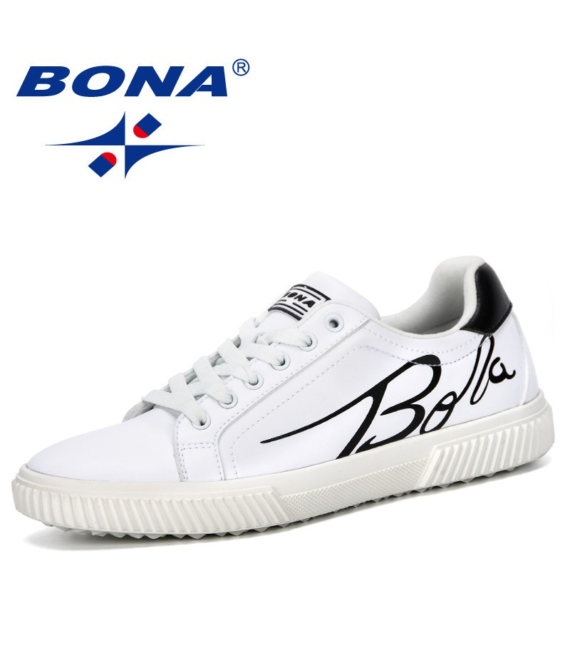 BONA 2019 New Designer Men Casual Flat Shoes Lace-up Low Top Male Sneakers Outdoor Tenis Masculino Adulto Shoes Leisure Footwear