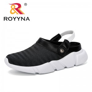 ROYYNA 2019 Classic New Popular Style Women Sandals Design Fashion Women Famous Flat Beach Shoes Mesh Summer Woman Slippers