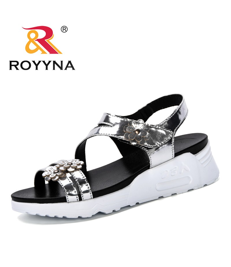 ROYYNA 2019 Woman Sandals New Summer Women Concise Platform Open Toe Casual Shoes Woman Shoes Fashion Thick Bottom Sandals Comfy