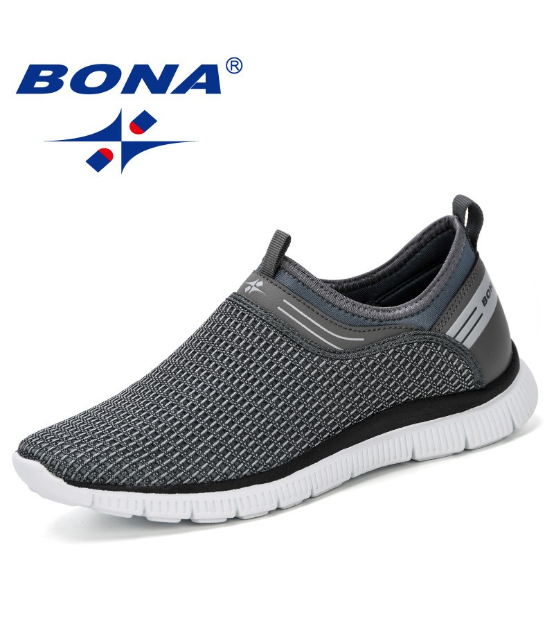 BONA 2019 Men Casual Shoes Breathable Fashion Sneakers Man Shoes Tenis Masculino Zapatos Hombre Sapatos Outdoor Shoes Man Trendy