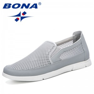 BONA 2019 New Fashionable Style Men Sneakers Summer Breathable Mesh Men Shoes Casual Lightweight Zapatillas Hombre Comfortable