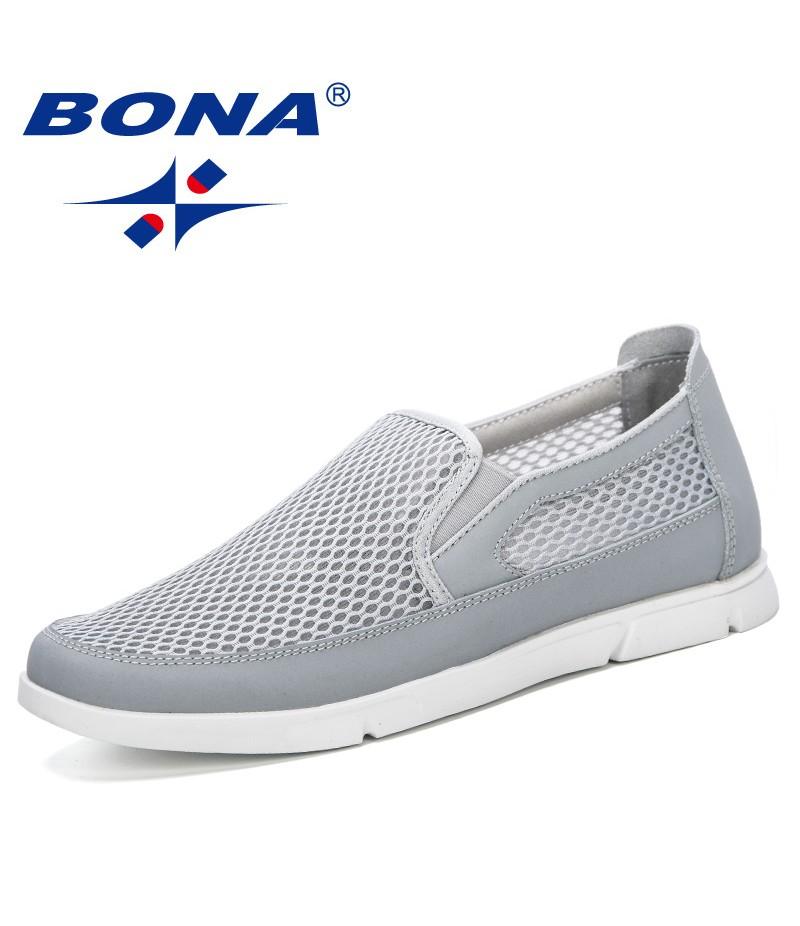 BONA 2019 New Fashionable Style Men Sneakers Summer Breathable Mesh Men Shoes Casual Lightweight Zapatillas Hombre Comfortable