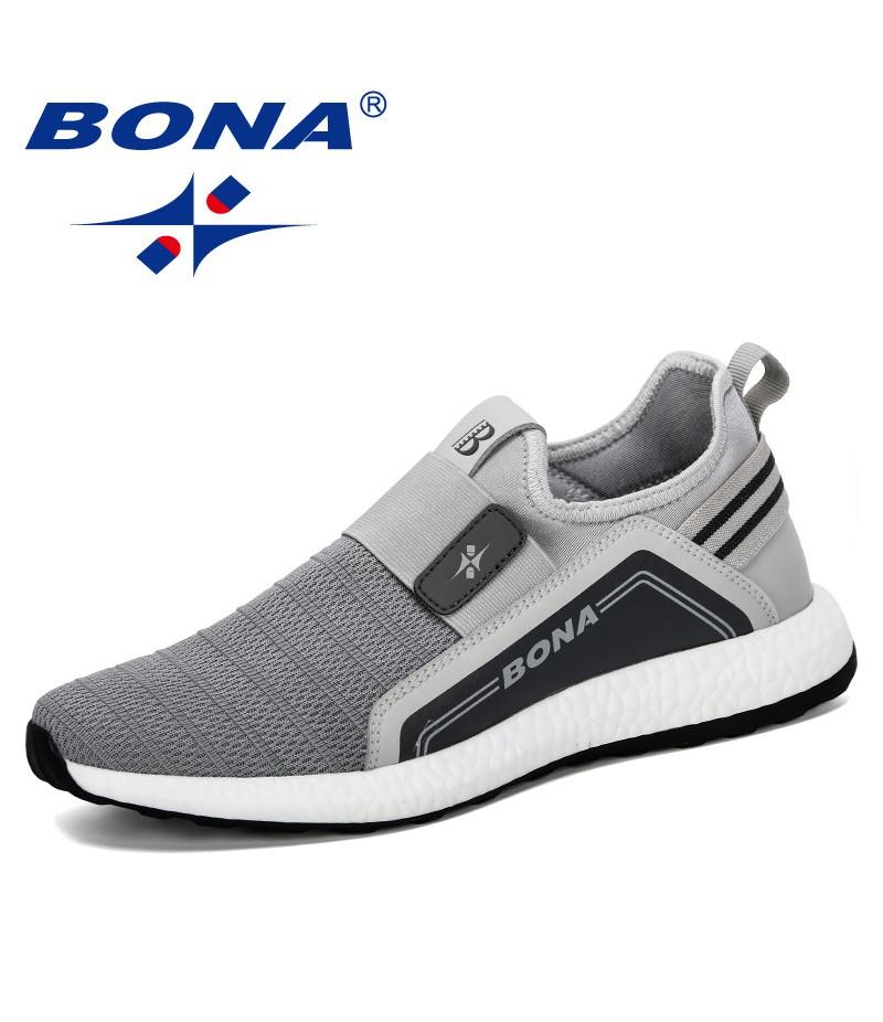 BONA 2019 New Popular Sneakers Men Lightweight Breathable Zapatillas Man Casual Shoes Mesh Footwear Men Zapatos Hombre Trendy