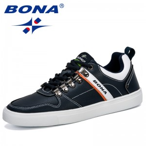 BONA 2019 Microfiber Outdoor Sneakers Male Adult Non-Slip Casual Shoes Men Spring Autumn Hard-Wearing Footwear Man Comfortable