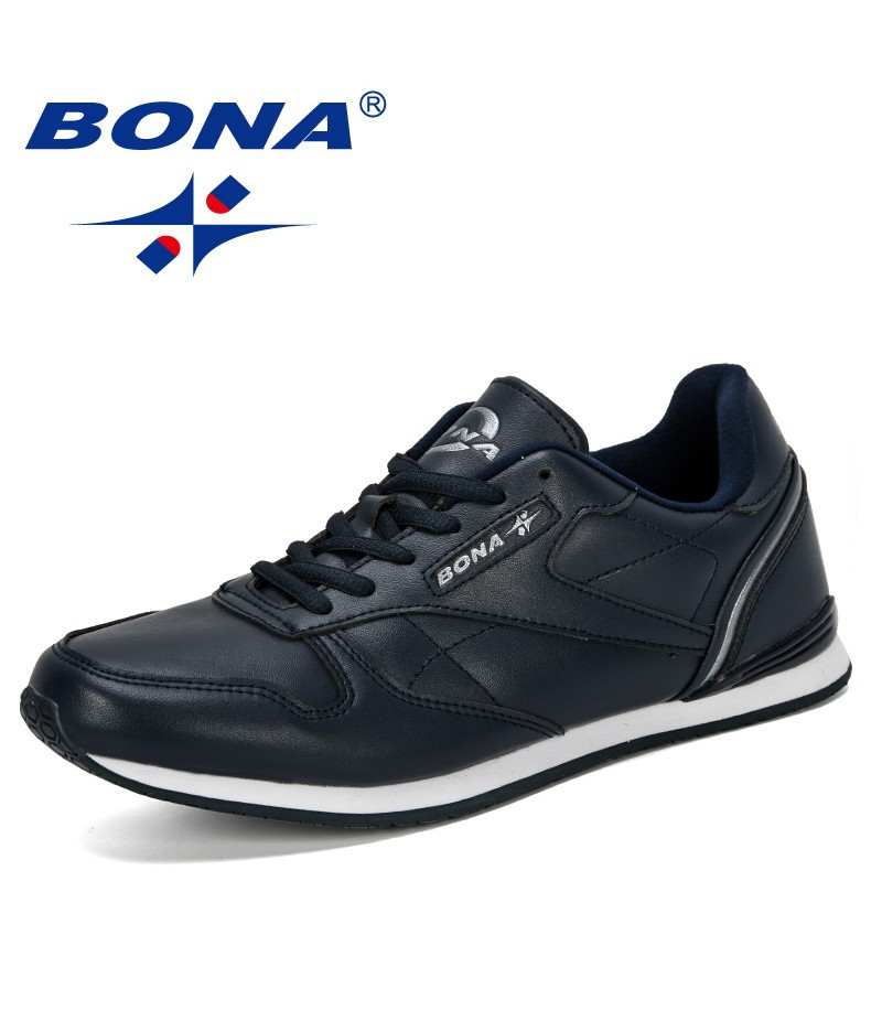 BONA 2019 New Popular Outdoor Sneakers Male Leisure Shoes Adult Non-Slip Casual Shoes Men Autumn Hard-Wearing Footwear Man Comfy