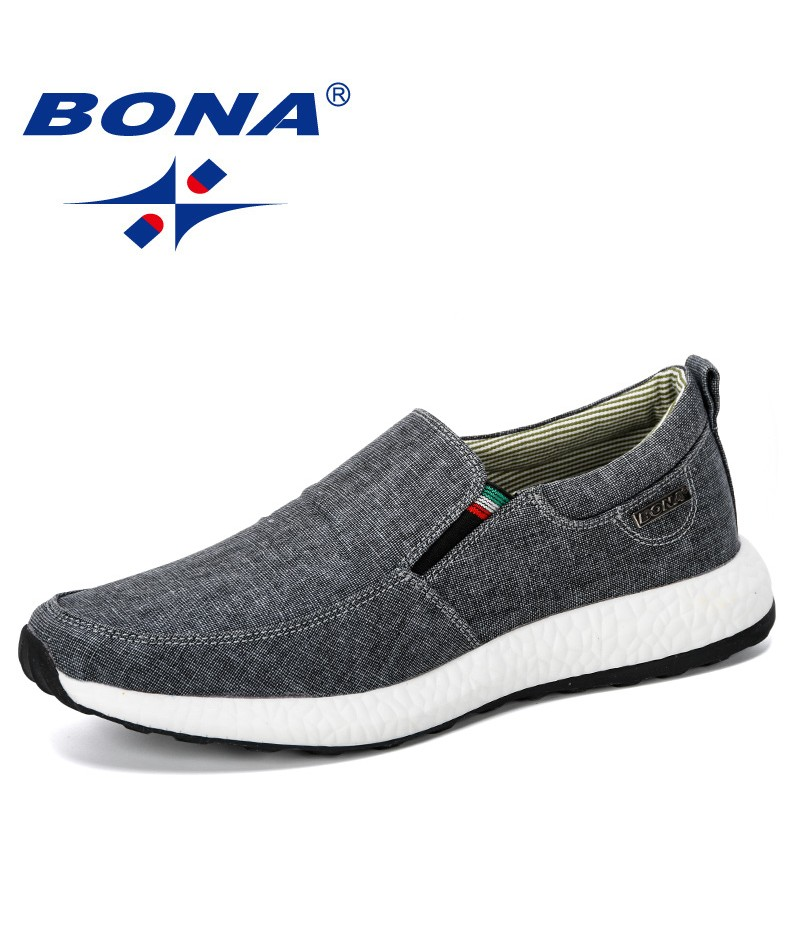 BONA 2019 Canvas Sneakers Men Casual Shoes Man Trainers Footwear Outdoor Leisure Shoes Male Tenis Masculino Adulto Comfortable