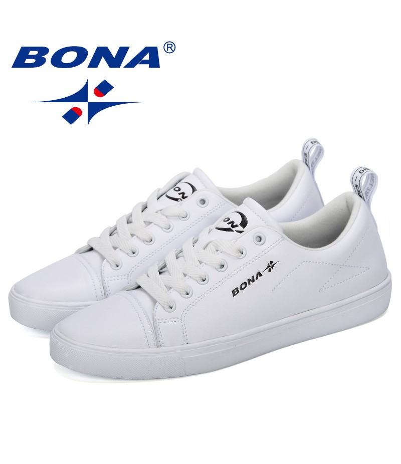 BONA 2019 New Classic Sneakers Men Skateboarding Shoes Outdoor Comfortable Solid Colors Unisex Lovers Lace-Up Sport Shoes Trendy