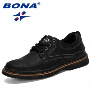 BONA 2019 New Popular Style Men Casual Shoes Lace-Up Men Sneakers Spring Autumn Breathable Fashion Comfortable Male Footwear