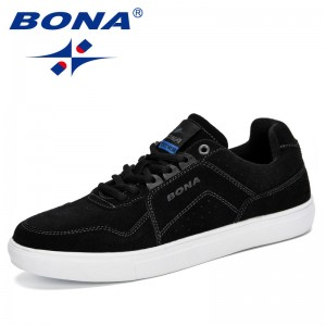 BONA 2019 New Men Skateboarding Shoes Sneakers Breathable Suede Shoes Students Shoes Street Walking Shoes Chaussure Homme Trendy