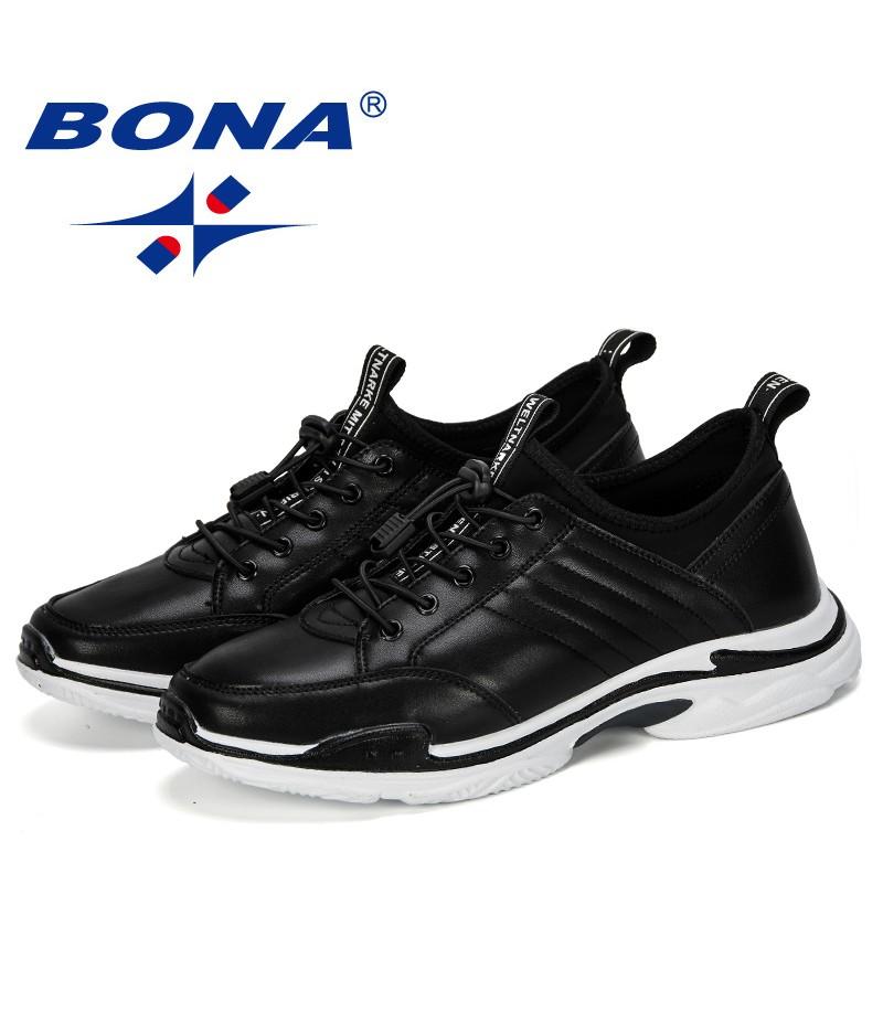 BONA 2019 New Popular Casual Shoes Men Outdoor Sneakers Shoes Man Comfortable Trendy Men Walking Footwear Tenis Feminino Zapatos