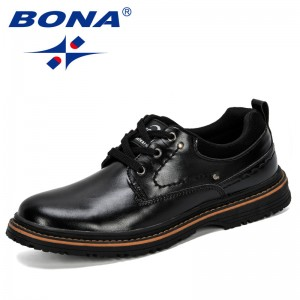 BONA 2019 New Classics Dress Shoes Men Formal Shoes Men's Handmade Business Shoes Wedding Shoes Lace-Up Male Outdoor Footwear