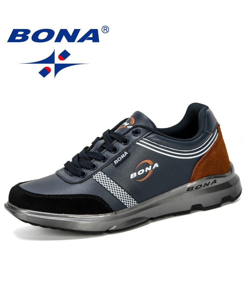 BONA 2019 New Classics Casual Shoes Men Sneakers Outdoor Man Leisure Footwear Comfy Fashion Vulcanized Shoes Zapatillas Mujer