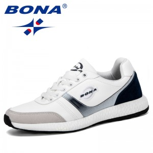 BONA 2019 New Classics Style Fashion Sneakers Men Casual Loafers Student Outdoor Trendy Shoes Track Field Walking Promotion Shoe