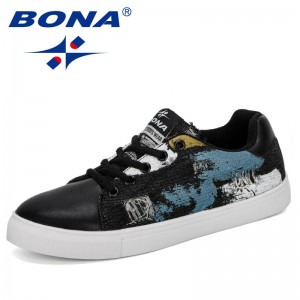 BONA 2019 New Designer Sneakers Women Outdoor Sport Shoes Jogging Walking Athletics Skateboarding Shoes Ladies Zapatillas Trendy