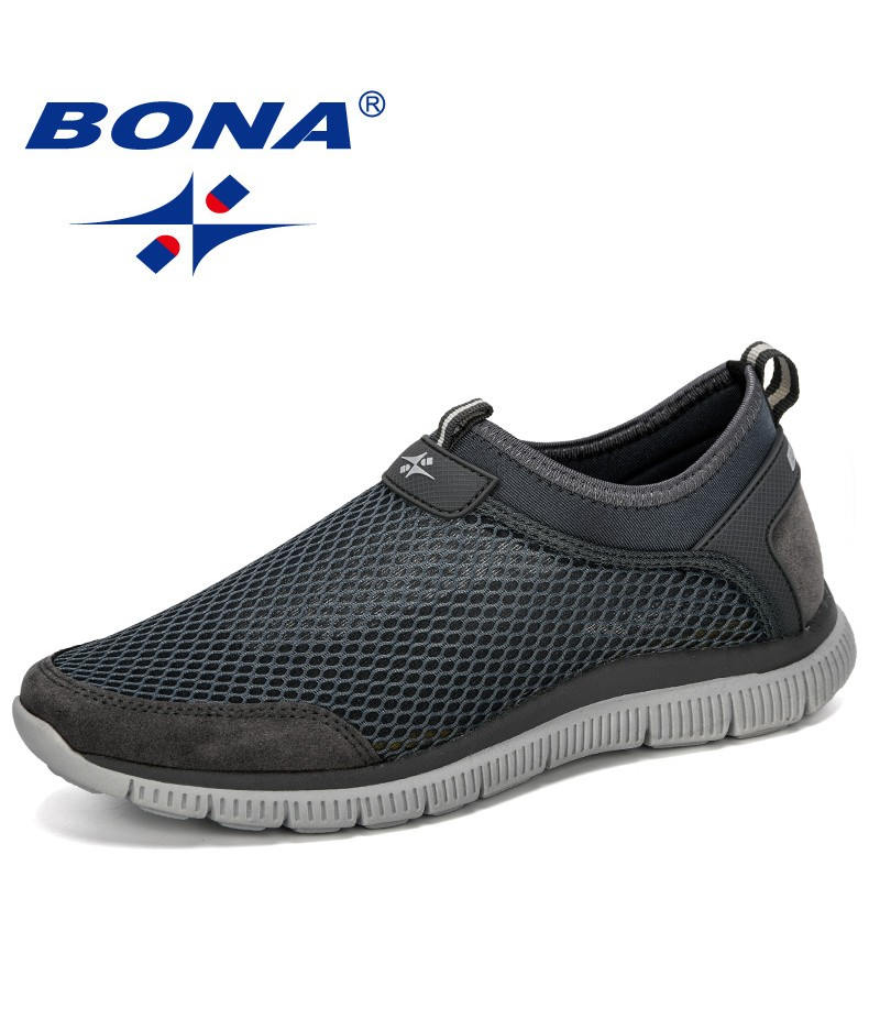 BONA 2019 New Style Men Breathable Comfortable Fashion Sneakers Wear-Resistant Lightweight Man Causal Shoes Zapatos Hombre Male