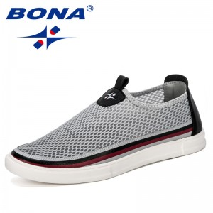 BONA 2019 New Classics Style Men Sneakers Shoes Lightweight Breathable Zapatillas Man Casual Shoes Zapatos Hombre Leisure Shoes
