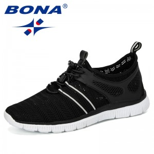 BONA 2019 New Fashion Krasovki Men's Casual Shoes Male Sneakers Lightweight Breathable Shoes Tenis Masculino Adulto Comfortable