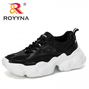 ROYYNA 2019 New Designer Mesh Tenis Fashion Casual Shoes Woman Comfortable Breathable Flats Female Platform Chaussure Femme Shoe