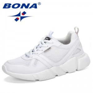 BONA 2019 New Style Outdoor Breathable Trainers Chunky Heels Women's Platform Sneakers Shoes Casual Female Shoes Comfortable