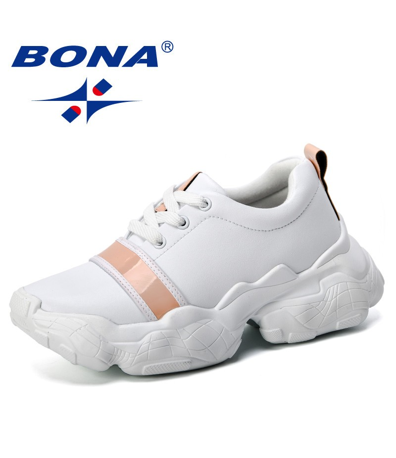 BONA 2019 New Classics Style Women Casual Shoes Comfortable Breathable Platform Woman Sneakers Ladies Trainers Chaussure Trendy