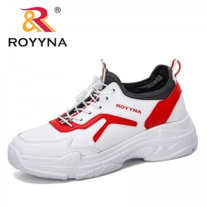 ROYYNA 2019 New Designer Popular Trainers Chunky Heels 5cm Women's Platform Sneakers Microfiber Women Shoes Casual Female Shoes