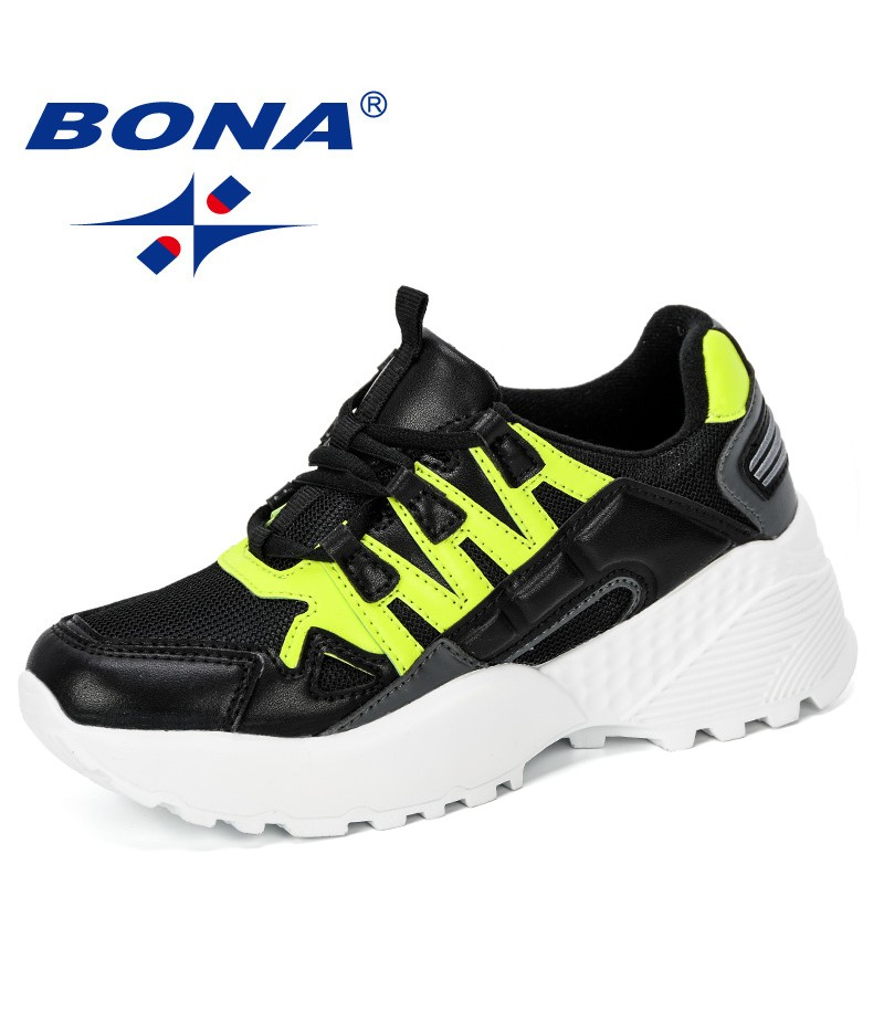BONA 2019 New Classics Style Wopmen Sneakers Platform Casual Shoes Woman Outdoor Trainers Ladies Trendy Basket Chaussure Femme