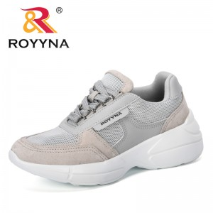 ROYYNA 2019 New Designer Women Casual Shoes Fashion Women Sneakers Breathable Mesh Walking Shoes Lace Up Flat Shoes Comfortable