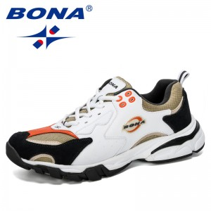BONA 2019 New Designer Sport Shoes Men Sneakers Mens Running Shoes Outdoor Training Shoes Men Tennis Shoes Male Jogging Shoes