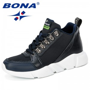 BONA 2019 New Style Women Casual Shoes Fashion Breathable Walking Mesh Flat Shoes Sneakers Women Gym Vulcanized Tenis Feminino